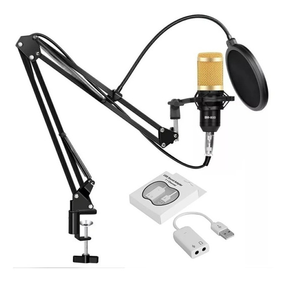 Microfone Consensador Estúdio Bm800 Plus Waver Top De Linha