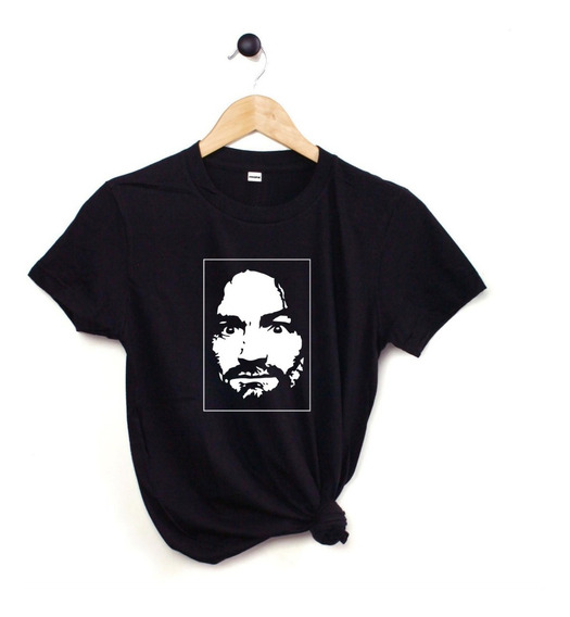 Blusa Playera Camiseta Dama Charles Manson Negra Elite #716