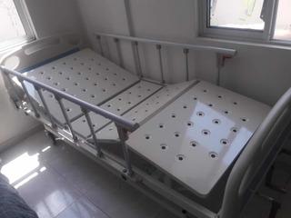 Cama Hospitalaria Manual 3 Movimientos Y Colchón Anti Escara