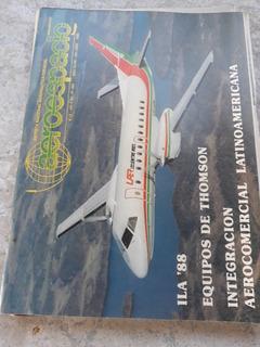 Lote De 5 Revistas ** Aeroespacio ** Aeronautica Años 80