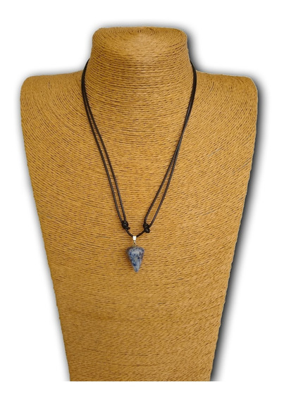 Colar De Pedra Natural Sodalita Ref: 9215