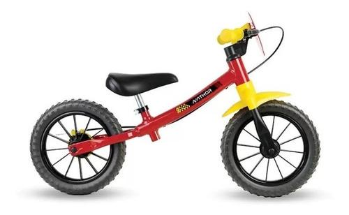Bicicleta Infantil Sem Pedal Balance Vermelha Nathor