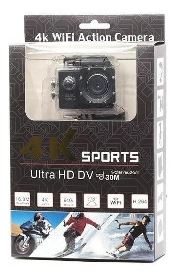 Câmera Action Gopro Cam Ultra 4k Sport Wifi Hd Prova Dágua