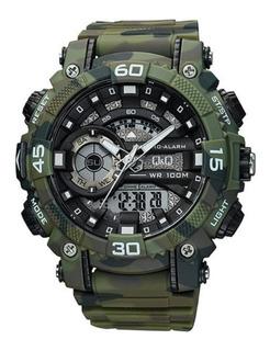 Reloj Tactico Militar Camuflado Deporti Q&q By Citizen Gw87j