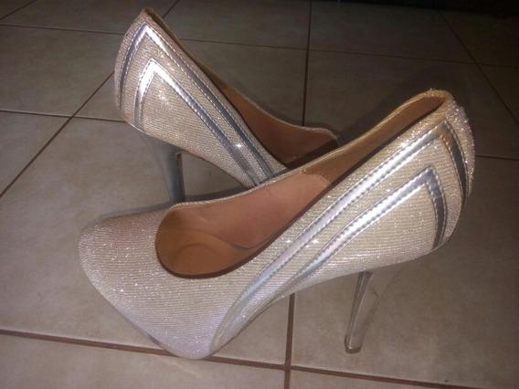 Zapatos Vizzano Plateado...