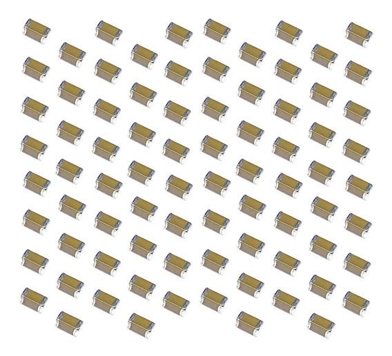 Capacitores De Lasca Cerâmico X7r 1206 Dos Pces 10uf 16v De