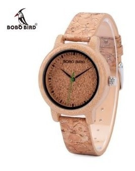 Relógio Masculino Bambu Analógico Bobo Bird M11 Cortiça