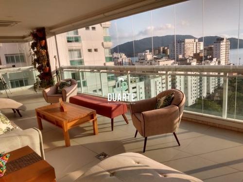Imagem 1 de 30 de Vendo Apartamento Alto Padrão Em Santos, 4 Suítes, 3 Vagas, Vista Mar, Aparecida, Ville De France - Ap02680 - 68028632