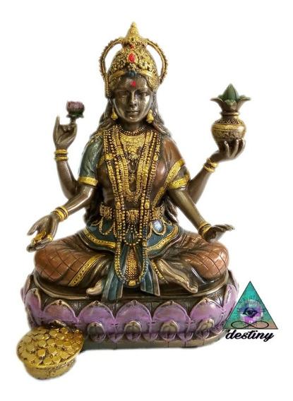 Hermosa Escultura De Lakshmi Diosa De La Belleza Y Riqueza