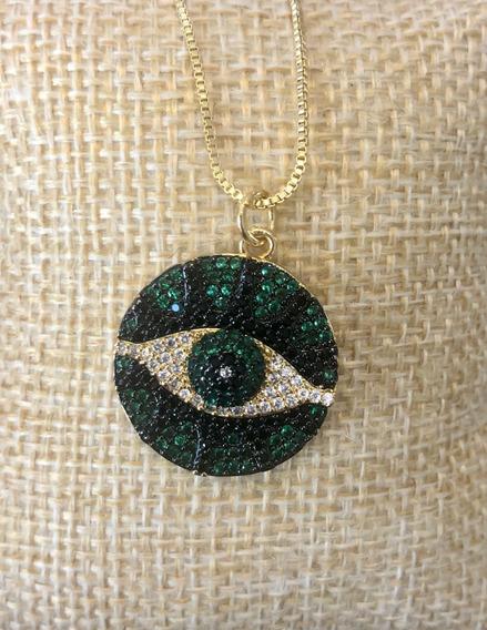 Collar Ojo Verde
