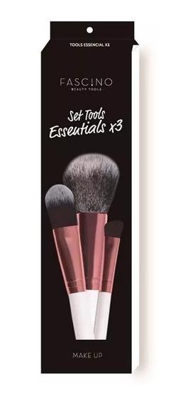 Fascino Set De 3 Brochas De Maquillaje Tool Essentials