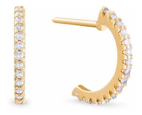 Brinco De Ouro E Diamantes N6