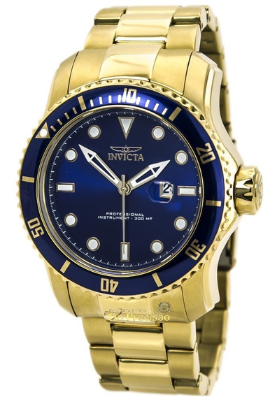 Relógio Invicta 15352 Pro Diver Scuba Ii Gold 53mm