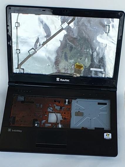 Carcaça Notebook Itautec A7420+placa Filha Com Botão Power+