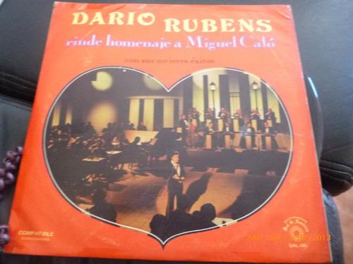 Vinilo Lp De Dario Rubens Homenaje A Calo  (u43