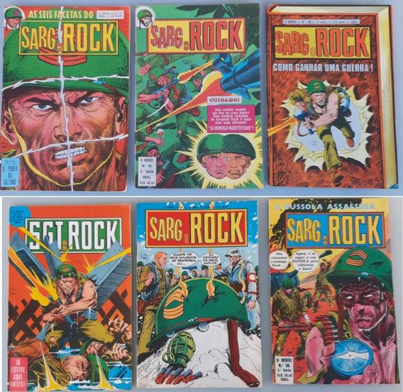 Sarg. Rock 6 Hq´s Gibi Nº 36,37,38,39,40,41 Ebal Raro Antigo