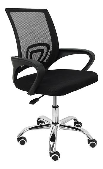 Cadeira Escritório Trevalla Cde-26-1 Ajuste De Altura Preta
