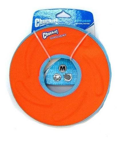 Imagem 1 de 9 de Brinquedo Cachorro Disco Frisbee Zipflight M Laranja Chuckit