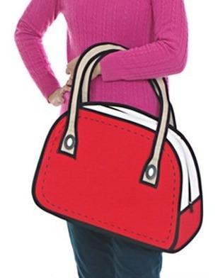 Bolso Cartera Diseño 2d 3d Cartoon Bag Handbag Importada 6