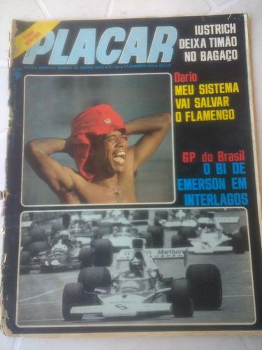 Placar Nº 202 - Poster Do Botafogo - Gp Brasil De F1 - 1974