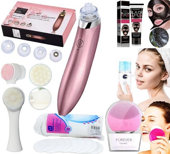 Kit Limpeza Pele Peeling Vaporizador Facial Esponja + Brinde