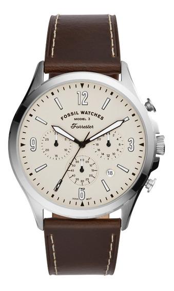 Relógio Fossil Masculino Marrom Leather Watch Fs5696/opn