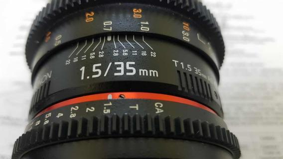 Lente Rokinon 35mm 1.5