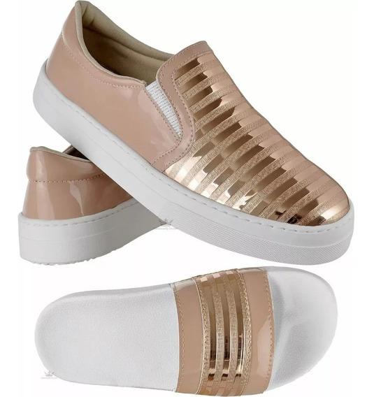Kit Tênis E Chinelo Slide Feminino Emanuelly Shoes Original