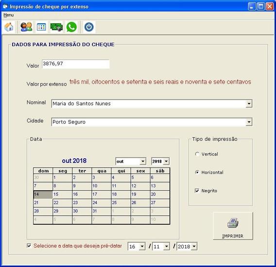 Programa Imprime Valor Por Extenso No Cheque Programas