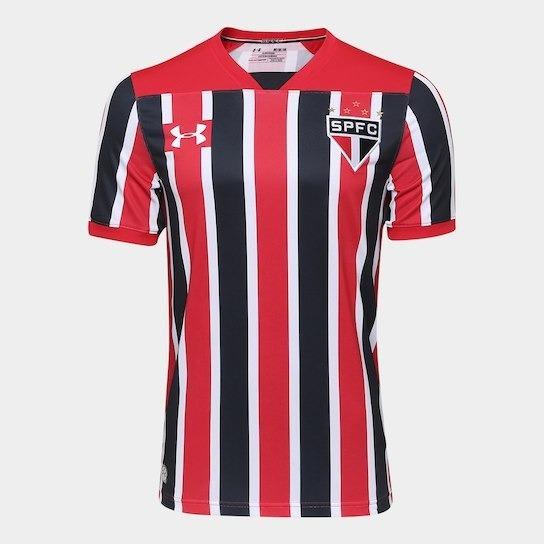 Camisa São Paulo I 17/18 S/nº Torcedor Under Armour Masculin