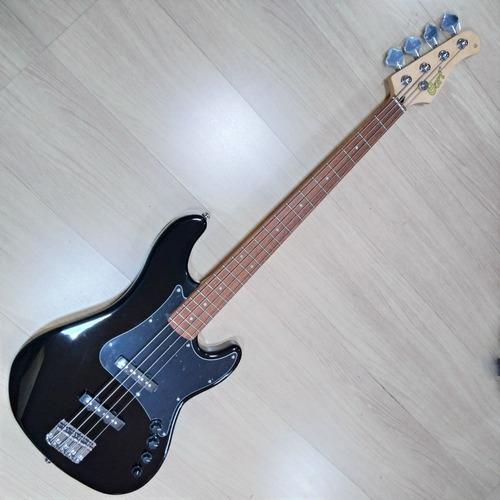 Imagem 1 de 10 de Contra Baixo Cort Gb 34jj Bk Jazz Bass Ativo