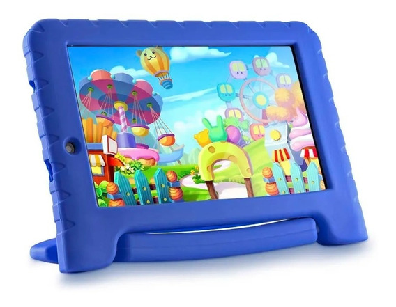 Tablet Infantil Multilaser Android Wifi + Emborrachado Azul