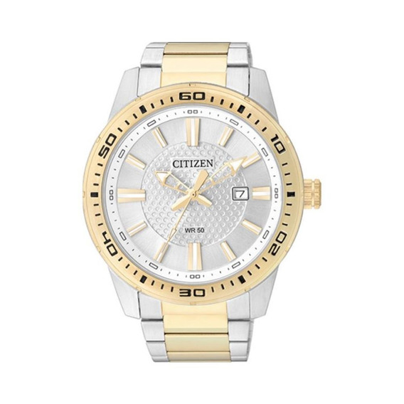 Relógio Citizen Masculino Gents Tz20493b Aço Prata E Dourado
