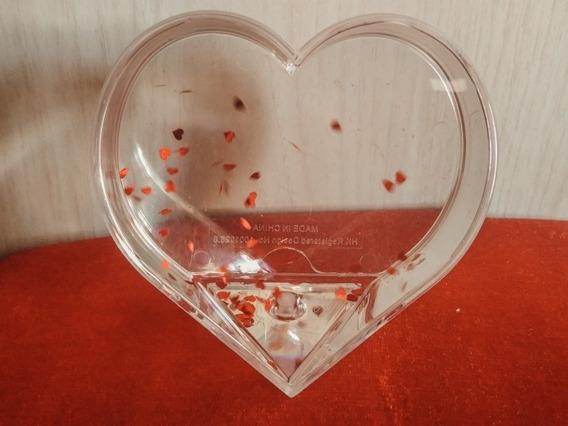 Porta Retrato De Água Formato Coração