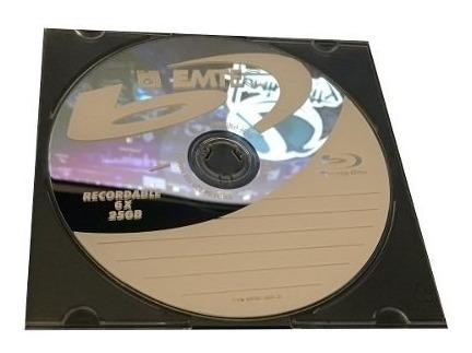 50 Blu-ray Gravável 25gb Emtec 6x Pc Com 50 Unidades
