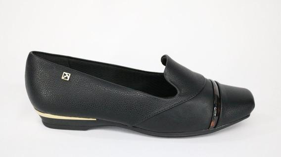 Sapato Feminino Piccadilly Maxi Bico Quadrado Preto