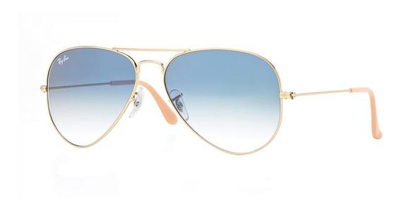 Gafas Ray-ban ® Aviator Large Metal Rb3025-001/3f Lente Azul