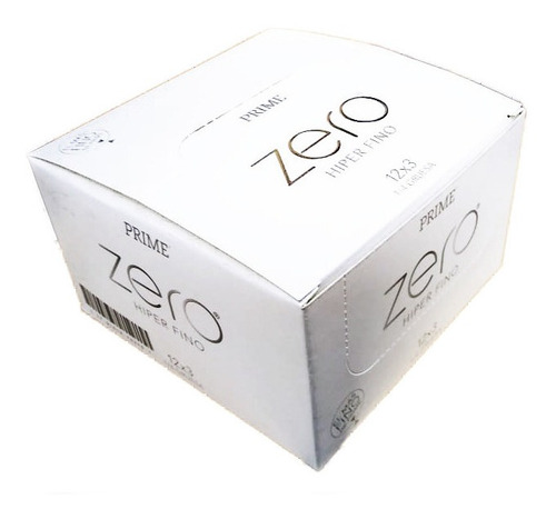 Imagen 1 de 4 de Preservativos Prime Zero Hiper Fino 12 Cajitas X 3 Unidades
