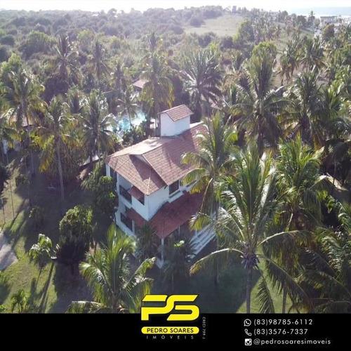 Casa Com 12 Dormitórios À Venda Por R$ 4.200.000,00 - Centro - Tibau Do Sul/rn - Ca0711
