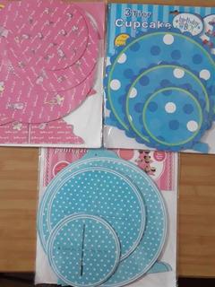 Torre 3 Pisos Cupcakes (cap. 24 Cupcakes) Concepcion