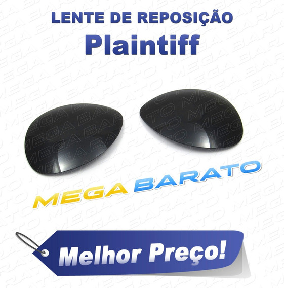 Lente Óculos Plaintiff Preta Stealth Black Polarizada
