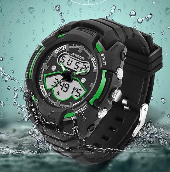 Relógio De Pulso Masculino Importado Verde Digital Moderno