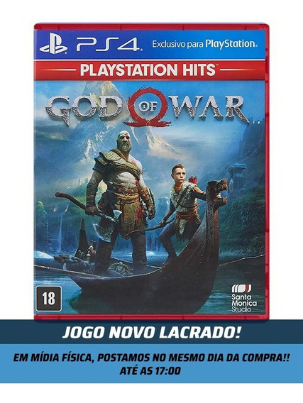 Jogo God Of War 4 Ps4 Mídia Física Novo Lacrado