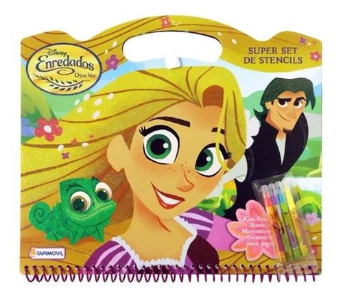 Super Set Stencil Dibujo Rapunzel Princesa Dju00721 Edu
