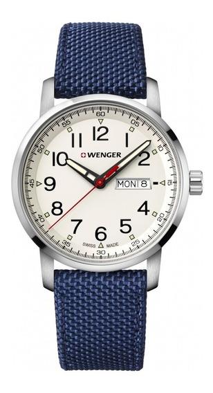Relógio Masculino Suíço Wenger Linha Atitude 42mm Azul C/nf