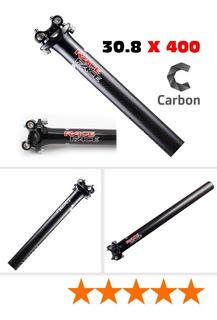 Tubo De Asiento Full Glossy Black 3k Carbon T800 30.8mm Next