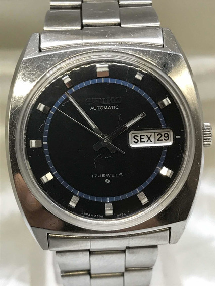 Relógio Seiko Automático 17 J Azul Oxford Relogiodovovô.