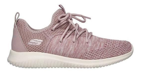 Skechers Zapatillas Running Mujer Ultra Flex Windsong Rosa