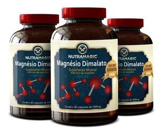 3 Magnésio Dimalato 180 Cápsulas - Promoção + Frete Grátis