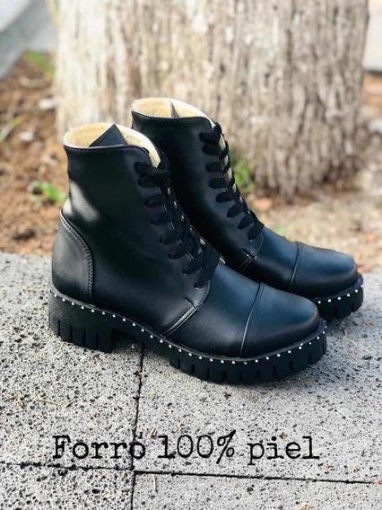 Botas Tipo Militar Negro Bodega